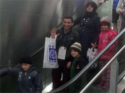 First Syrian Family arrive in Rhode Island